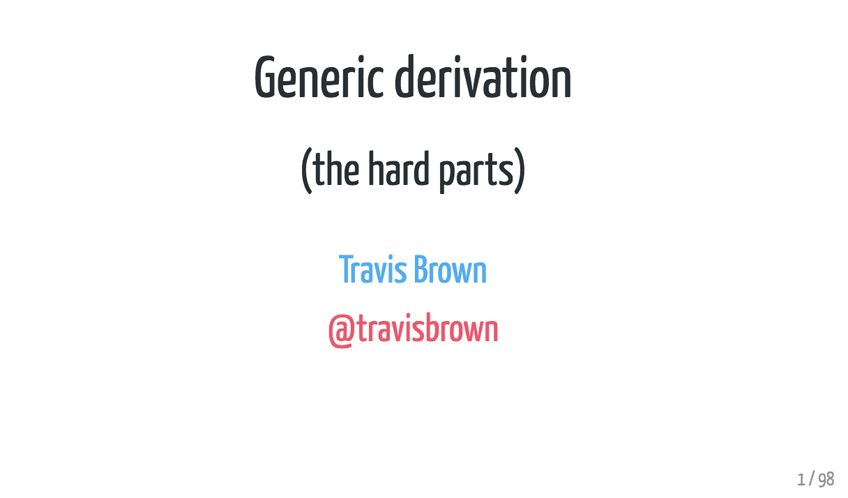 Generic Derivation