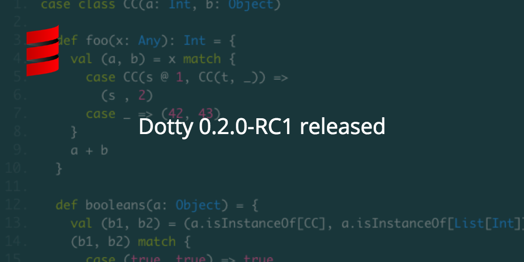 Dotty 0.2.0-RC1 Released