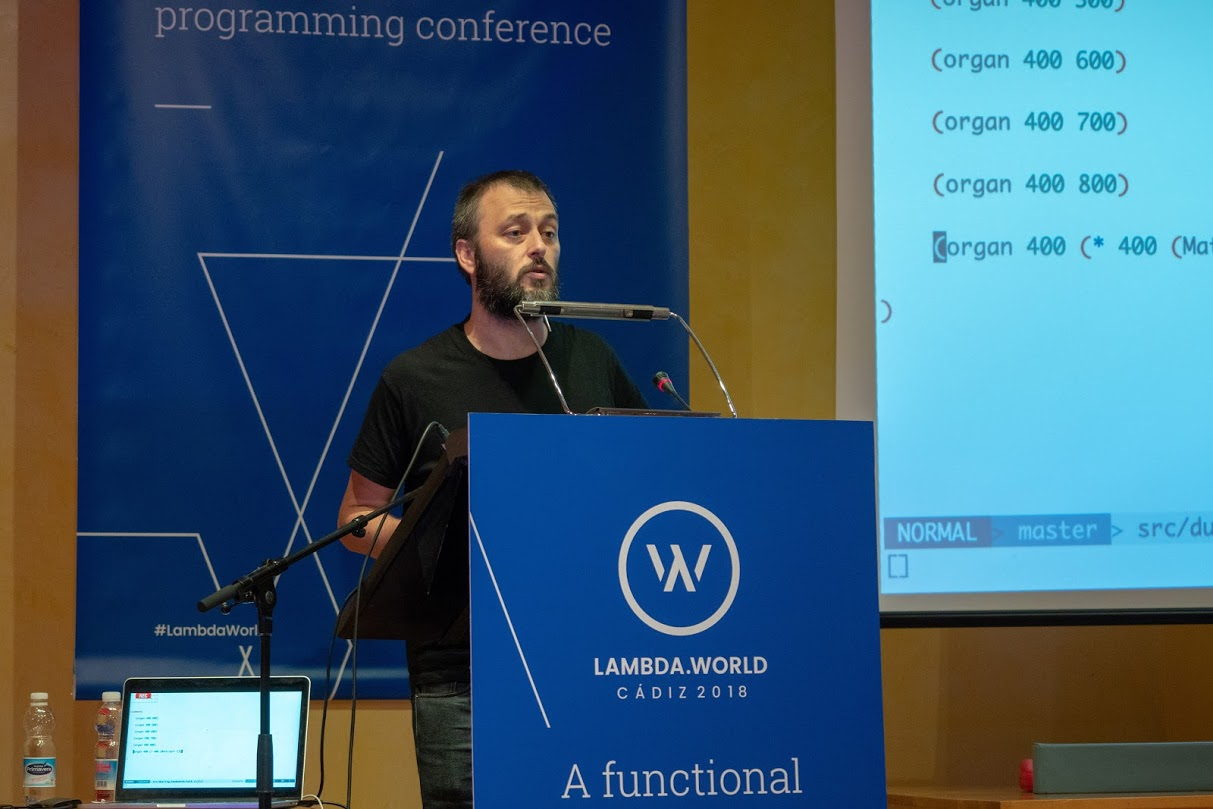 Chris Ford at Lambda World Cádiz 2018