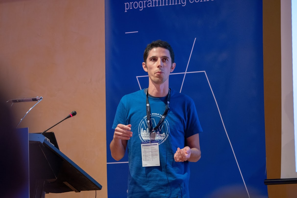 Jean-Baptiste Giraudeau at Lambda World Cádiz 2018