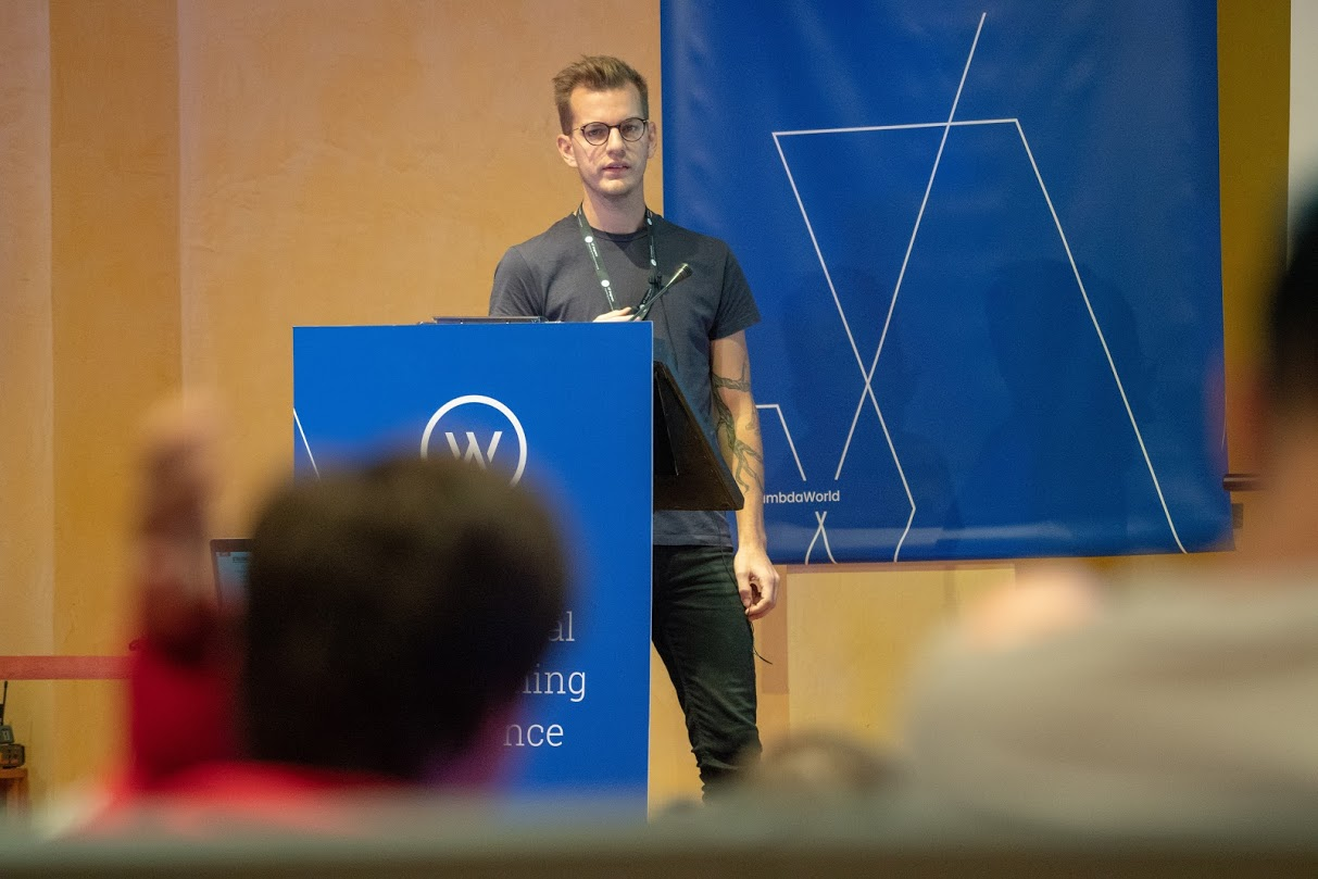 Oskar Wickström at Lambda World Cádiz 2018